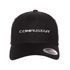 Compustar flexfit one-size hat in black
